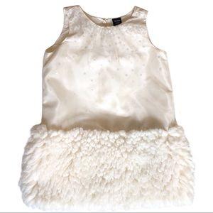 Gap Sequin/fur Dress